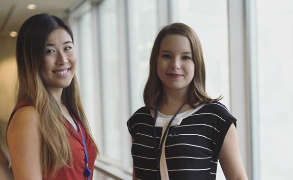 Mladé delegátky do OSN - Zuzana a Petra